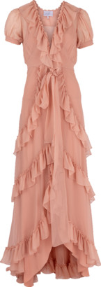 Luisa Beccaria Ruffle Tiered Long Dress