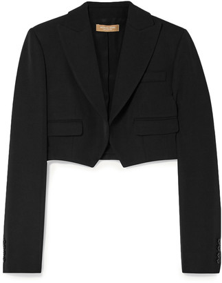 Michael Kors Collection Cropped Wool-gabardine Blazer