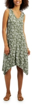 Style&Co. Style & Co Printed Handkerchief Hem Dress, Created for Macy's