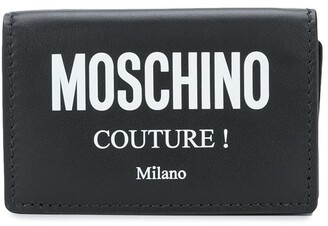 Moschino logo print wallet