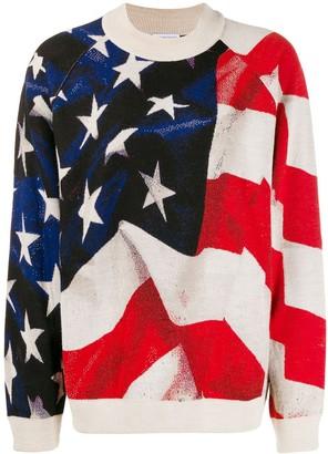 Ih Nom Uh Nit USA flag print jumper