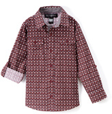 Beverly Hills Polo Club Burgundy Triangle Check Long-Sleeve Button-Up - Toddler & Boys