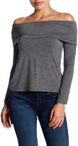 Bobeau Marilyn Off-the-Shoulder Long Sleeve Blouse (Petite)