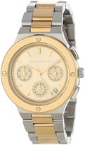Kenneth Jay Lane Women's KJLANE-2130 Chronograph Dial Two Tone Stainless Steel Watch