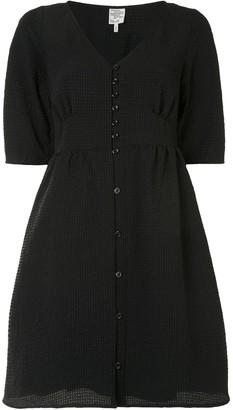 Baum und Pferdgarten V-neck button down dress