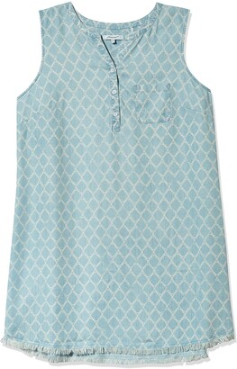 Foxcroft Women's Size Haven Plus Distressed Trefoil Tencel Dress