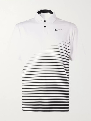 Nike Vapor Printed Dri-FIT Golf Polo Shirt - Men - White