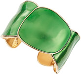 Kenneth Jay Lane Enamel Round Cuff, Green