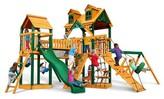 Gorilla Playsets Malibu Pioneer Peak Swing Set with Timber Shield