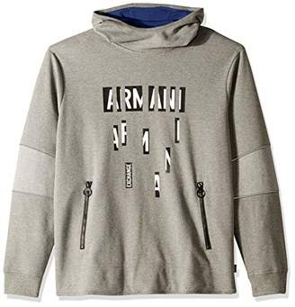 Armani Exchange A|X Men's Newspaper Text Hoodie