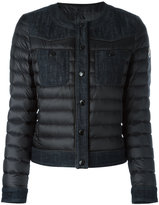 Moncler collarless padded jacket - women - Cotton/Feather Down - 1
