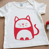 Nell Contented Cat Organic Cotton T Shirt