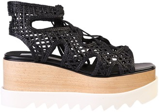 Stella McCartney Elyse Platform Ankle Wrap Sandals