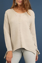 Umgee USA Diagonal Cable Sweater
