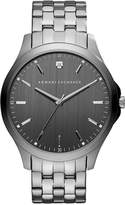 Armani Exchange Men's Diamond Accent Gunmetal Ion-Plated Stainless Steel Bracelet Watch 46mm AX2169
