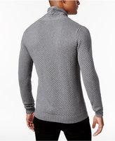 Sean John Men's Cable-Knit Shawl-Collar Sweater