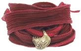 Catherine Michiels Le Tiare Bronze Charm & Silk Bracelet Wrap