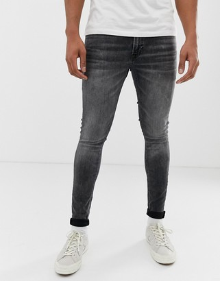 Jack and Jones Intelligence skinny fit jeans in washed black