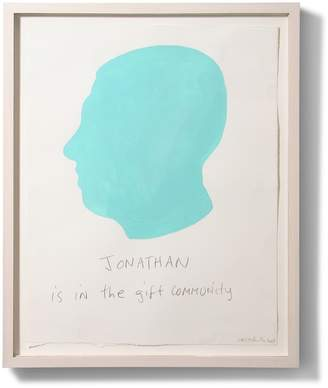 Jonathan Adler Carter Kustera Custom Silhouette and Text Portrait 19 x 15