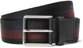 Paul Smith - 3.5cm Leather-Trimmed Striped Webbing Belt