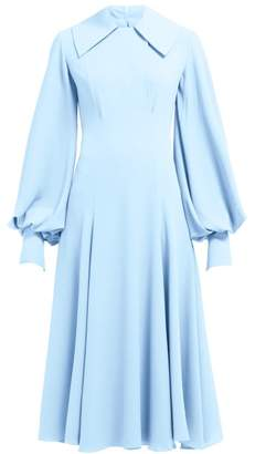 Emilia Wickstead Gaynor Cady Midi Dress - Womens - Light Blue