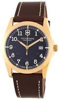 Victorinox Men's Infantry Goldtone & Leather Watch