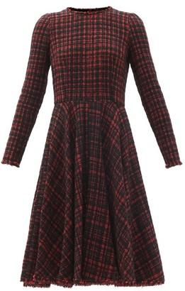 Dolce & Gabbana Tailored Tweed Midi Dress - Black Red
