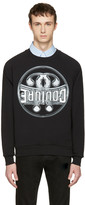 Moschino Black Cotton couture Pullover