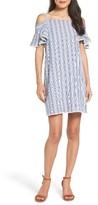 Maggy London Women's Cold Shoulder Seersucker Dress