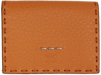 Fendi Orange Leather Beads Wallet