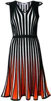 MSGM striped flared dress - women - Cotton/Viscose - 48