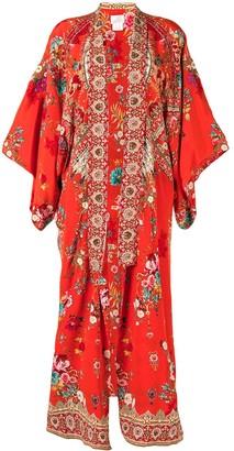 Camilla Floral-Print Kimono Jacket