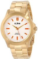 A Line a_line Women's AL-80013-YG-22 GRA Silver Dial Gold Ion-Plated Stainless Steel Watch