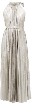 A.W.A.K.E. Mode Oyster Halterneck Midi Dress - Womens - Silver