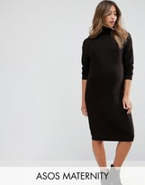 Asos Midi Dress with High Neck