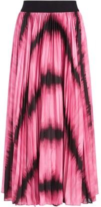 Alice + Olivia Tie Dye-Print Pleated Midi Skirt