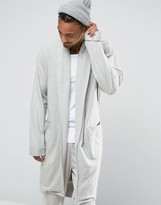 Asos Loungewear Brushed Woven Shawl Neck Robe