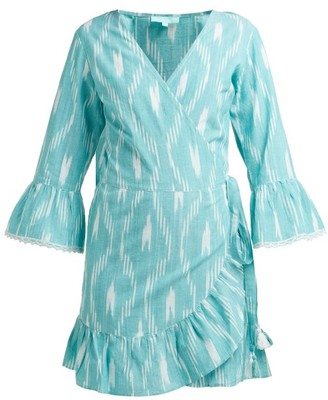 Melissa Odabash Freya Printed Wrap Mini Dress - Womens - Green Print