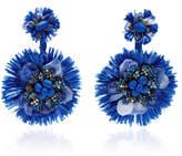 Ranjana Khan Blue Drop Flower Fan Earrings