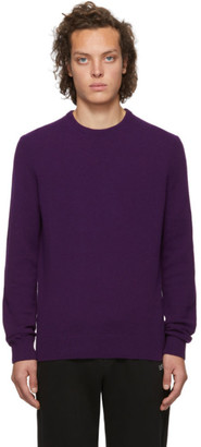 BOSS Purple Wool Cordial Ambotrevo Sweater