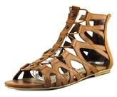 American Rag Aromil Women Open Toe Synthetic Tan Gladiator Sandal.