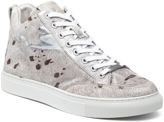 J/Slides Ludlow Genuine Calf Hair Platform High Top Sneaker