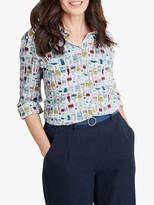 Seasalt Larissa Long Sleeve Graphic Print Shirt, Paint Box Mix