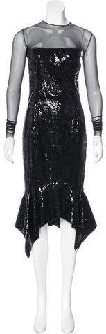 Alexandre Vauthier Sequined Midi Dress w/ Tags