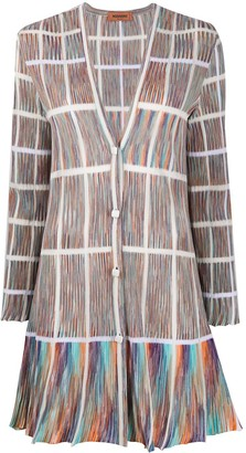 Missoni Pleated Style Grid Pattern Cardi-Coat