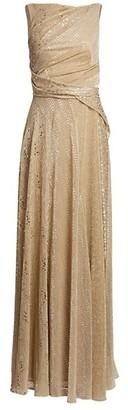 Talbot Runhof Sleeveless Embellished Sash Gown