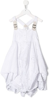 Lapin House Draped Embroidered Dress