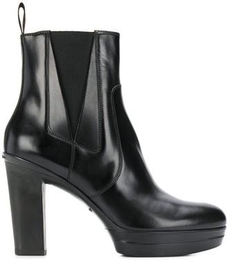 Santoni High Heel Platform Boots