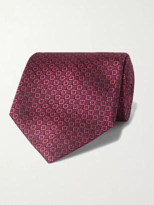 Charvet 8cm Silk-Jacquard Tie - Men - Burgundy