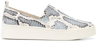 Vince Leopard Print Slip-On Sneakers